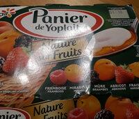 Panier de Yoplait Nature sur Fruits : Framboise, Mirabelle, Mûre, Abricot, Fraise, Pêche - Продукт - fr