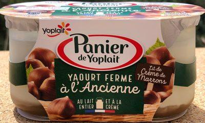 Yaourt ferme à l'ancienne sur lit de crème de marrons - Product