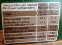 Yaourt ferme à l'ancienne sur lit de crème de marrons - Nutrition facts