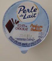 Spécialité laitière sucrée, aromatisée à la vanille, aux copeaux de chocolat - Produit - fr