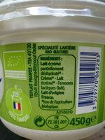 Calin Bio - Ingrédients - fr