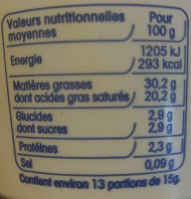 Creme fraiche entiere - Informations nutritionnelles - fr