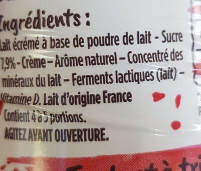 Yaourt à boire sucré aromatisé - Ingrédients - fr