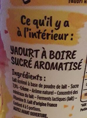 Yop Fraise Banane - Ingredients - fr