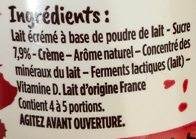 Yop fraise - Ingrediënten - fr