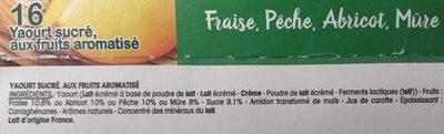 Panier de Yoplait - Ingrediënten - fr