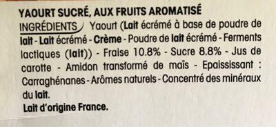 Yaourt fraise et framboise - Ingrédients
