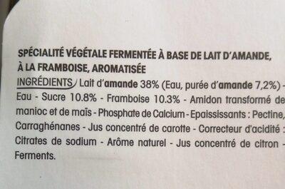 Panier de Yoplait au lait d'amande - Ingredients