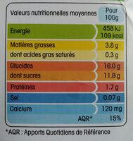 Spécialité végétale fermentée à base de lait d'amande, à la Framboise, aromatisée - Información nutricional - fr