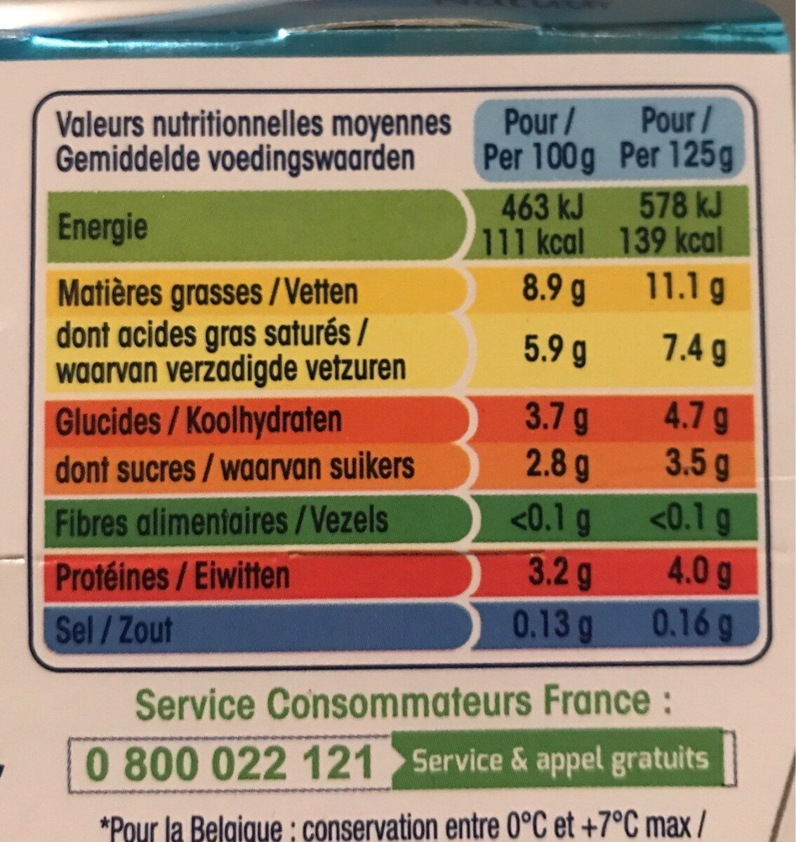 Perle de lait nature - Nutrition facts - fr