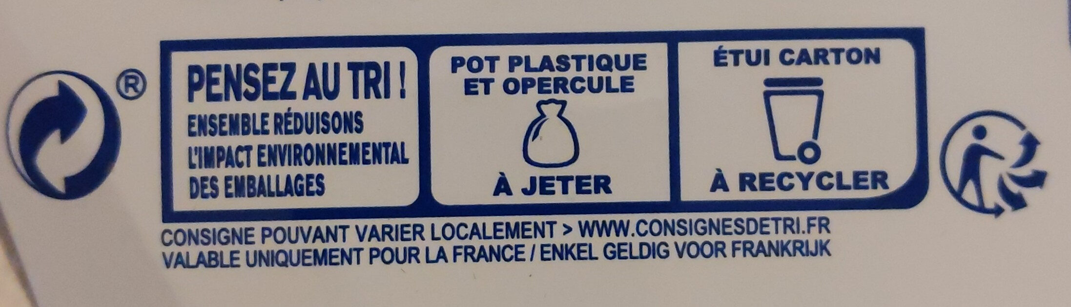 Perle de lait au citron - Recycling instructions and/or packaging information - fr