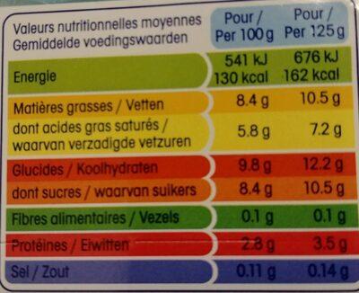 Perle de lait coco en fins éclats - Informations nutritionnelles - fr