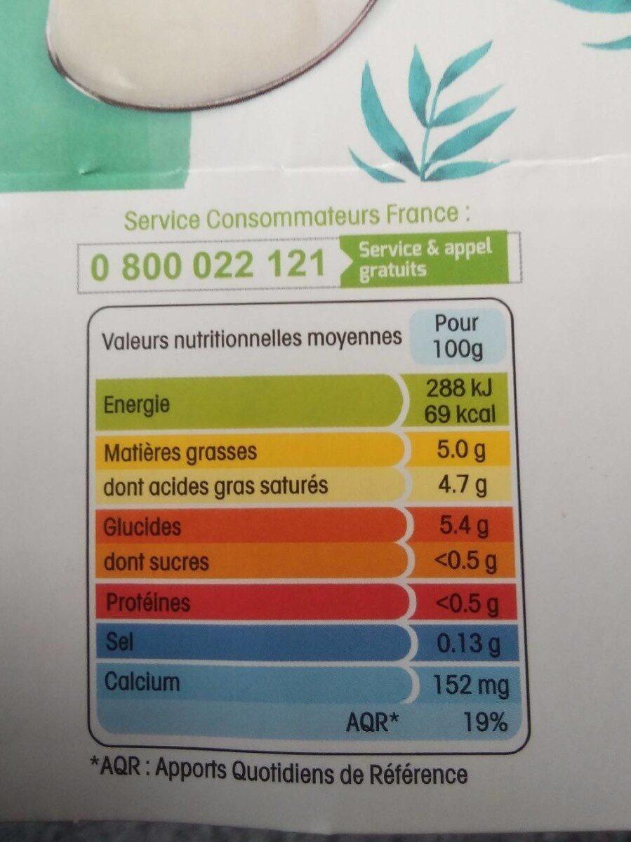 Panier de Yoplait végétal.. - Nutrition facts