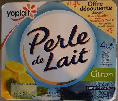 Perle de lait citron - Product
