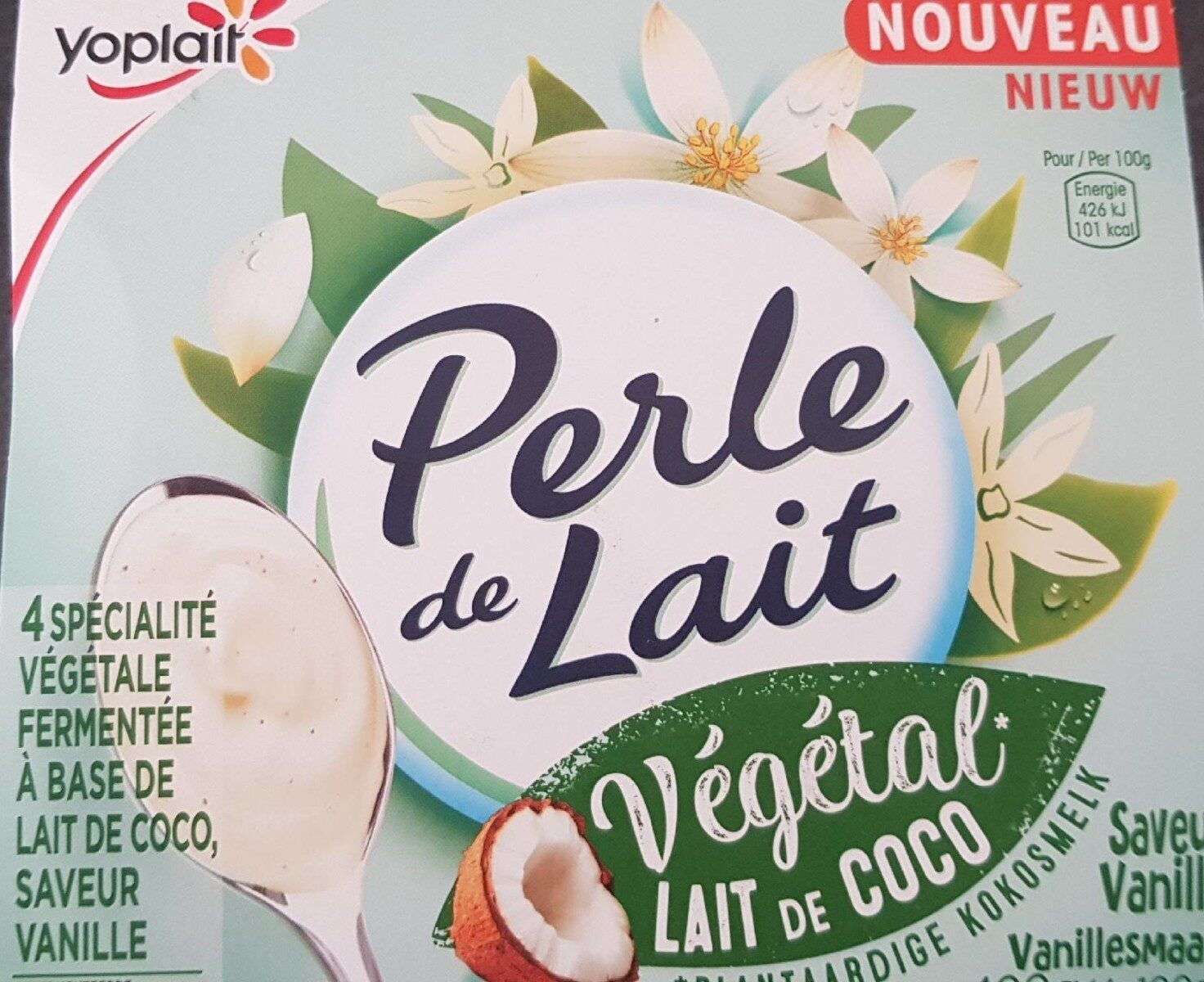 Perle de lait végétal lait de coco vanille - Product - fr