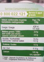 Perle de lait végétal lait de coco vanille - Nutrition facts - fr