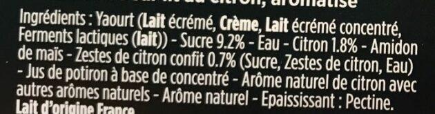 Liberté citron zestes confits - Ingredients - fr