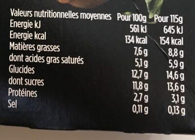 Liberté citron zestes confits - Nutrition facts - fr