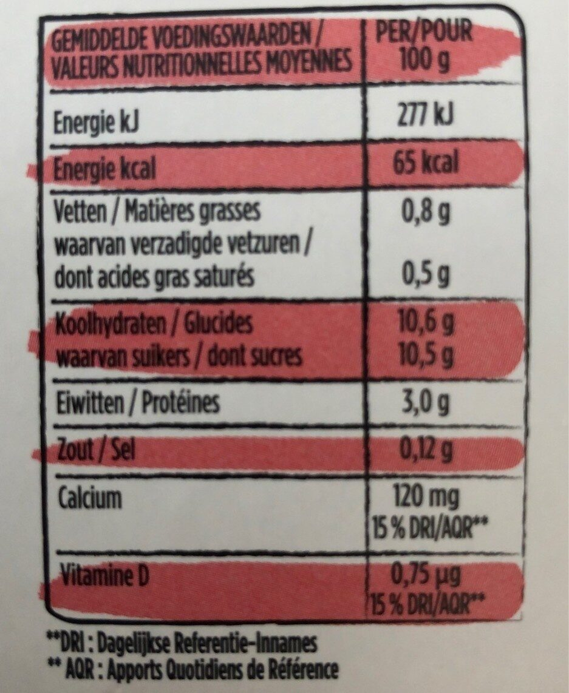 Yop - Voedingswaarden - fr