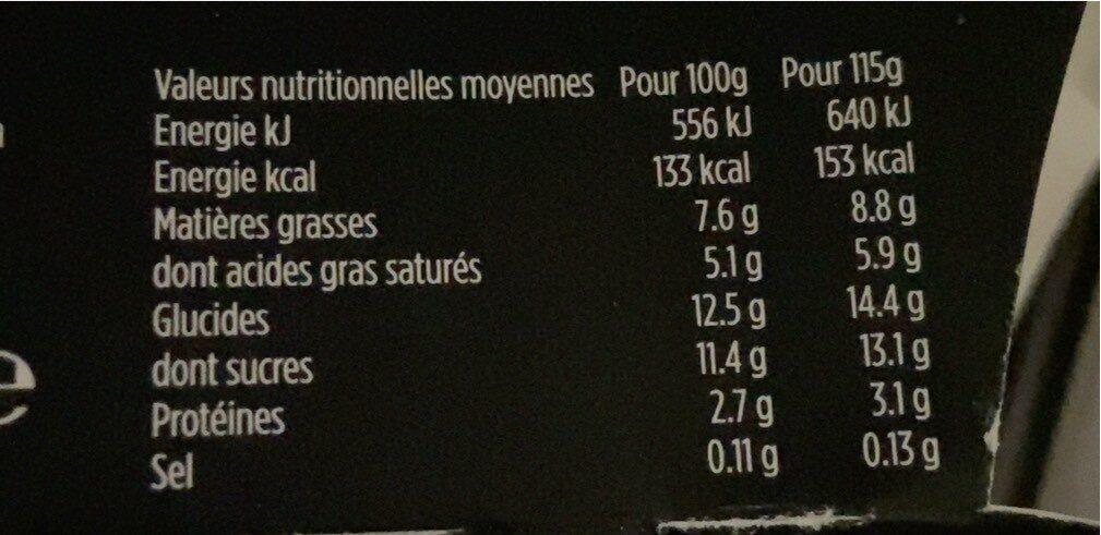 Liberté chaï - Informations nutritionnelles - fr