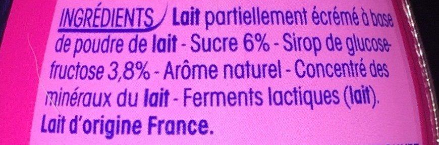 P'tit Yop goût framboise - Ingrediënten - fr