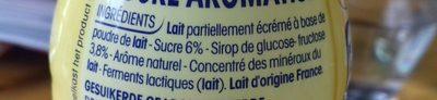P'tit Yop arômes naturels goût vanille - Ingrediënten
