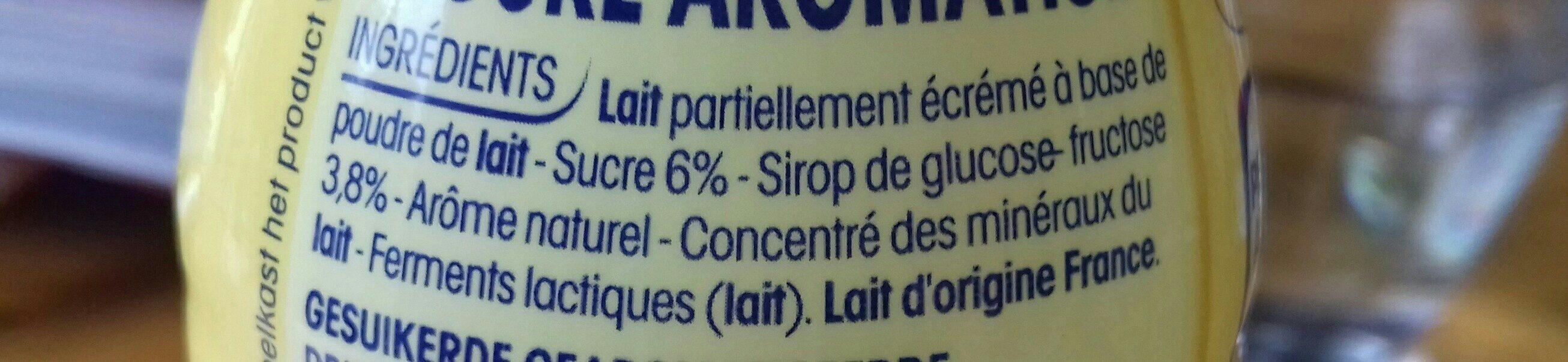 P'tit Yop arômes naturels goût vanille - Ingredients - fr