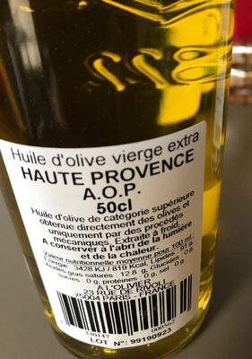 Huile d'olive vierge extra Haute Provence AOP - Product - fr