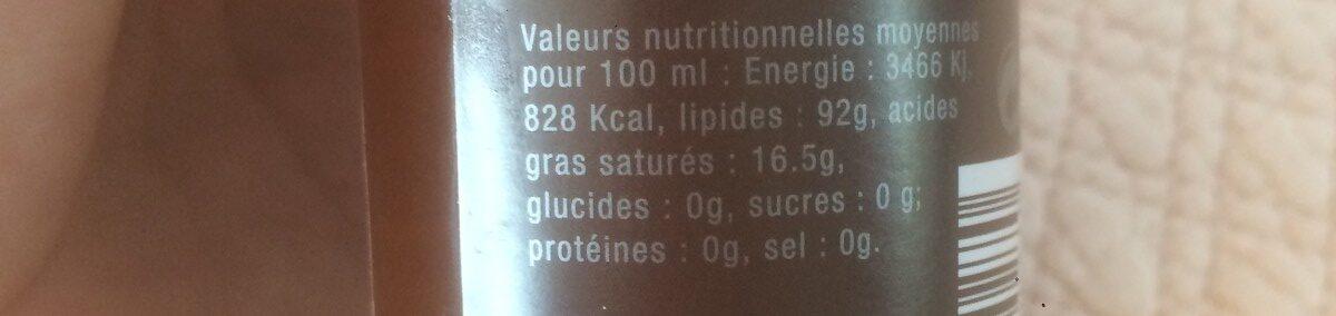 Huile vierge d'argan bio - Ingredients - fr