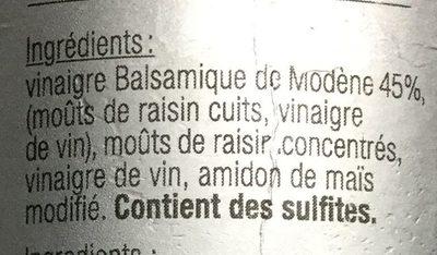 Crème au vinaigre balsamique de modene - Ingrédients - fr