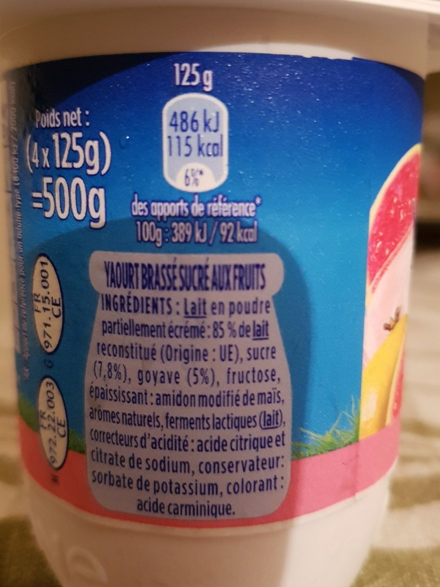 Velouté fruix - Ingrédients