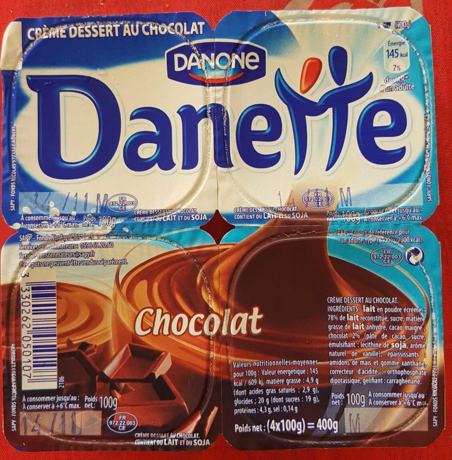 Danette chocolat - Produit - fr