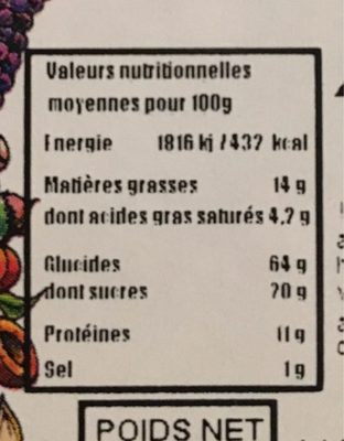 Arachide a la moutarde Wasabi - Nutrition facts - fr