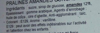 Pralines amandes concassées - Ingrédients