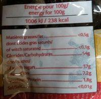 Pruneaux d'Agen - Nutrition facts - fr