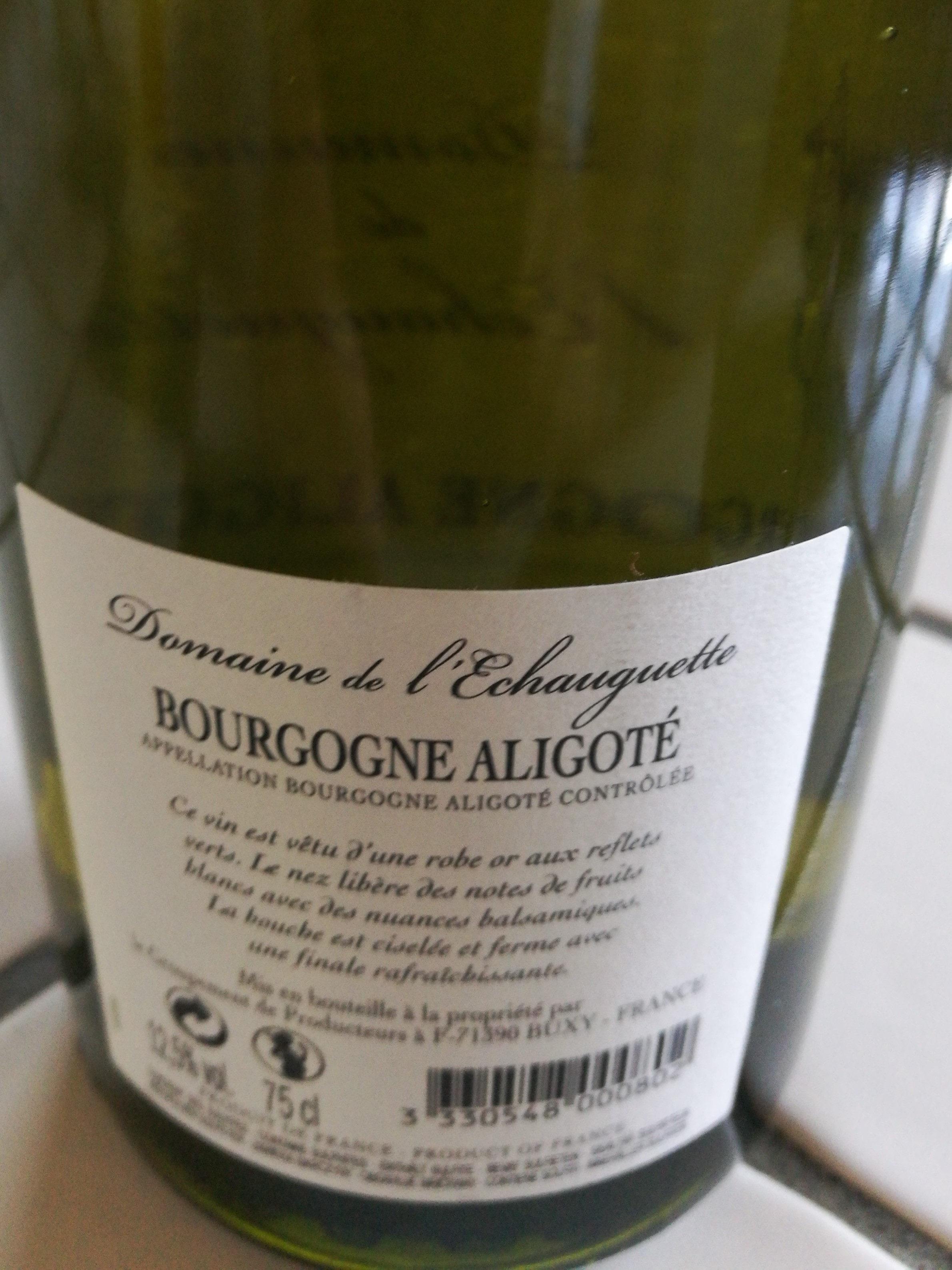 bourgogne aligoté 2017 - Produit - fr