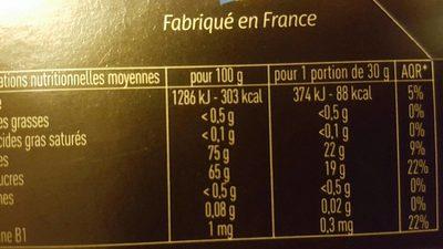 booster - Informations nutritionnelles - fr
