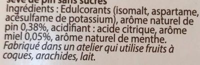 Miel Sève de pin - Ingredients - fr
