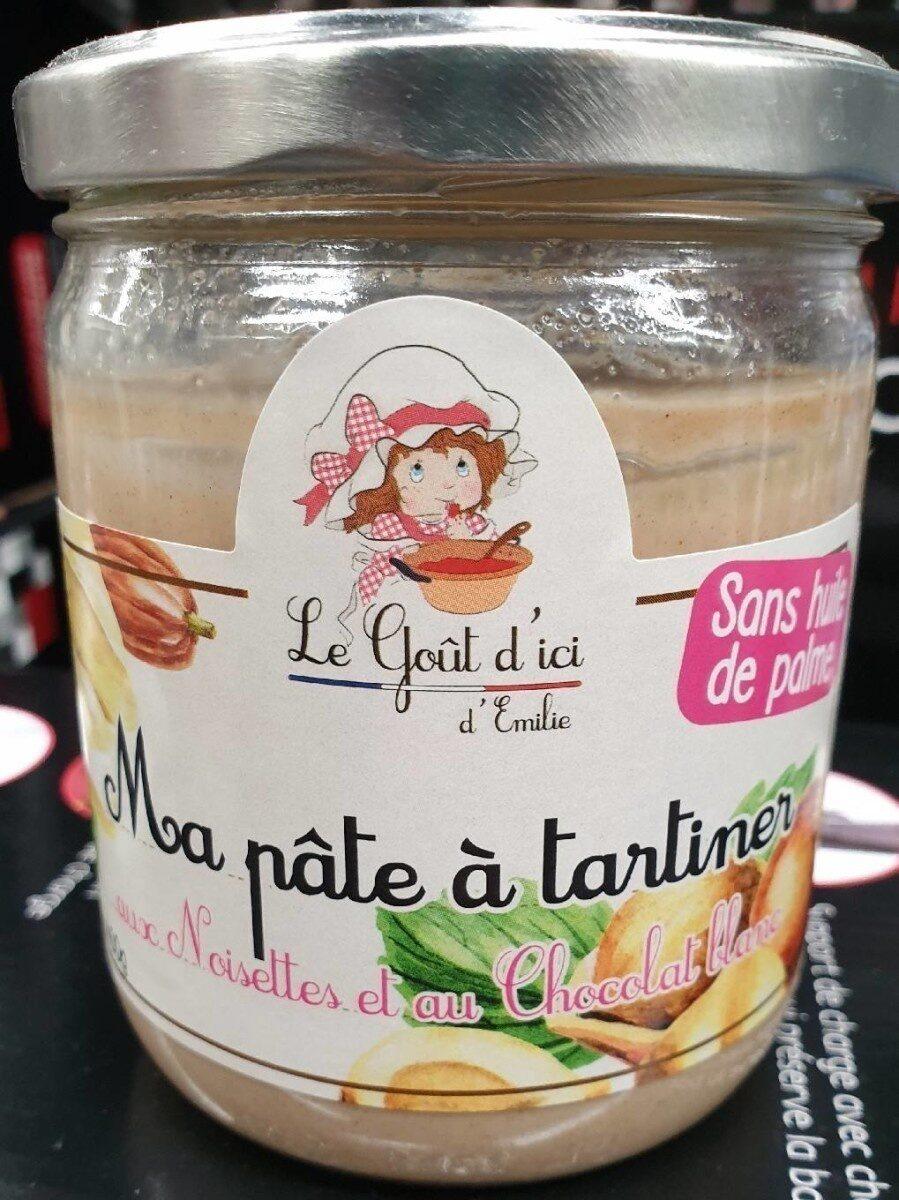 Pâte à tartiner aux noisettes et au chocolat blanc - Product - fr