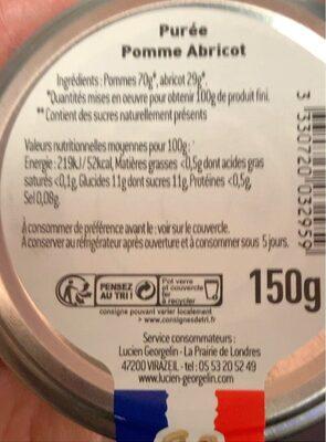 Compote pommes abricots - Informations nutritionnelles - fr