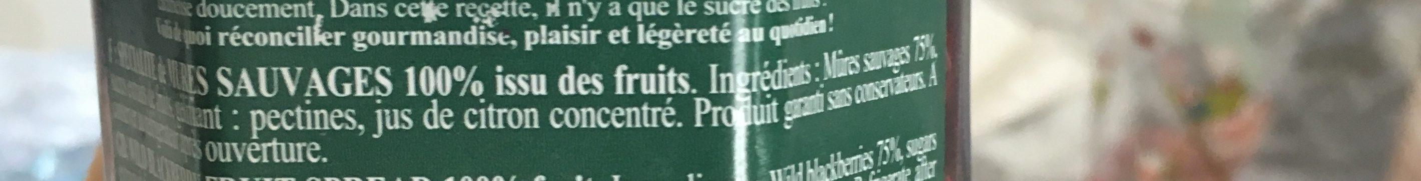 Myrtilles sauvages Cuit au chaudron - Ingredients - fr