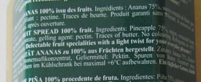 Ananas cuit au chaudron - Inhaltsstoffe