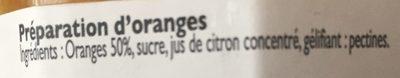 Confiture d'Orange - Ingredients