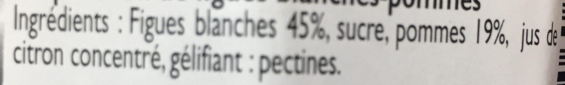 Confiture Figue Blanche - Ingredients