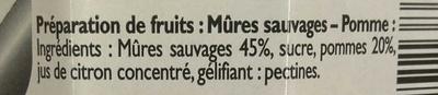 Mûre Sauvage - Ingrediënten