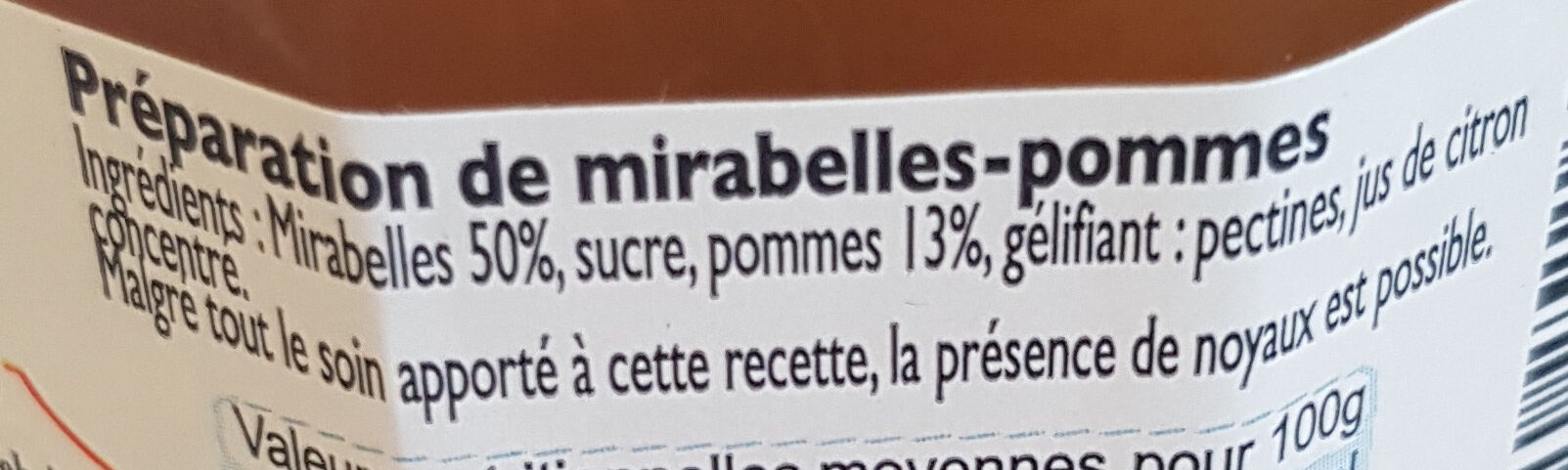 Mirabelle cuite au chaudron - Ingrediënten