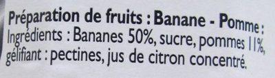 Banane Cuite aux Pommes et au Chaudron - Ingrédients - fr