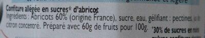 Confiture Abricot - Ingrédients - fr