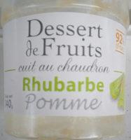 Bergams Dessert Rhubarbe Pomme - Produit - fr