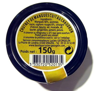 Chutney de Mangues à l'Oignon Rouge - Ingredients
